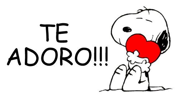 Te Adoro imagen #5505 - Te Adoro!!! Tags: Abrazo, Corazon, Snoopy. Imágenes y fotos de 'Te Adoro' con frases para facebook, whatsapp y twitter.