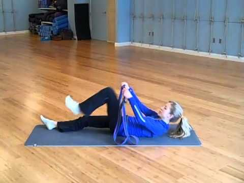 http://www.carolinejordanfitness.com/    Join trainer, Caroline Jordan, for this free 10 minute stretching video to help tight stiff muscles. This Stretching Sequence will help improve  flexibility and strength. Its perfect after a workout or to relax after a long day. Bring a yoga strap and a mat.... lay down and take a load off!     I challeng...