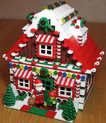 LEGO Custom Gingerbread House Christmas Train Holiday Train City Town Santa Elf