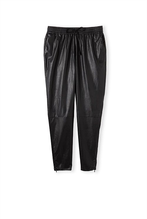 Relaxed Leather Look Pant. I like the skinny ones more, but these can work.