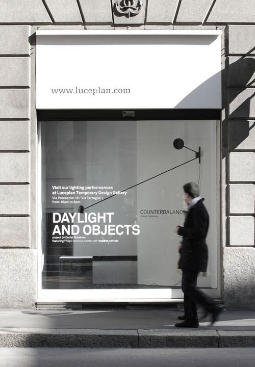 Sweet windowfront for an agency. Use good copy and nice type to explain what you do