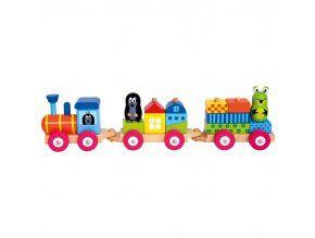 Vlak s domečky - Krtek Bino Express