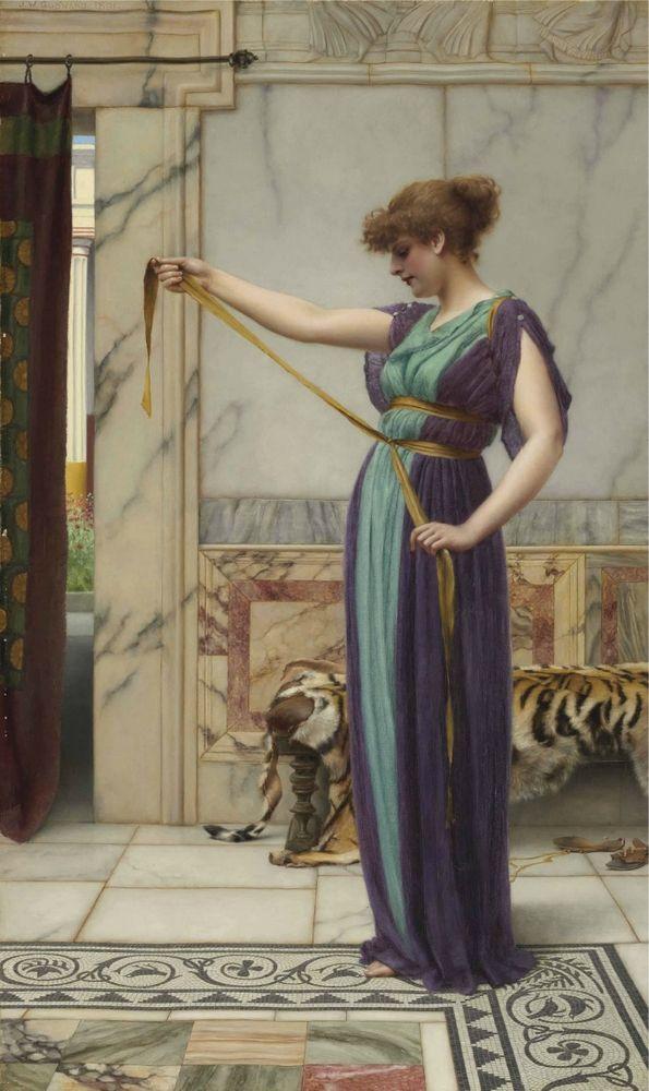 LARGE SIZE PAINTINGS: John William GODWARD A Pompeian Lady