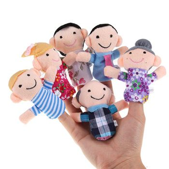 Family of Finger Puppets for Playing, 6 pcs //Price: $9.49 & FREE Shipping // #kid #kids #baby #babies #fun #cutebaby #babycare #momideas #babyrecipes  #toddler #kidscare #childcarelife #happychild #happybaby