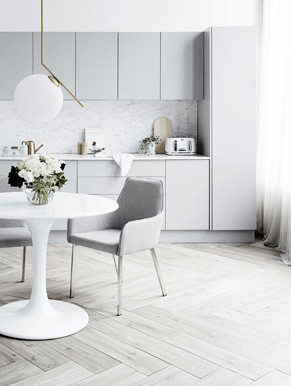 Scandinavian inspired kitchen design at it's best.