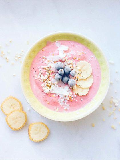 Die Erdbeer-Nice-Cream ist besonders erfrischend an heißen Tagen.