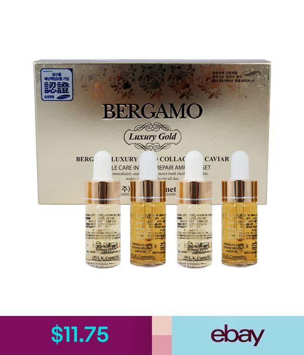 11 75 Bergamo Premium Luxury Gold Collagen Caviar Ampoule Set