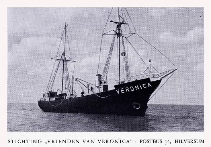 Radio Veronica QSL card