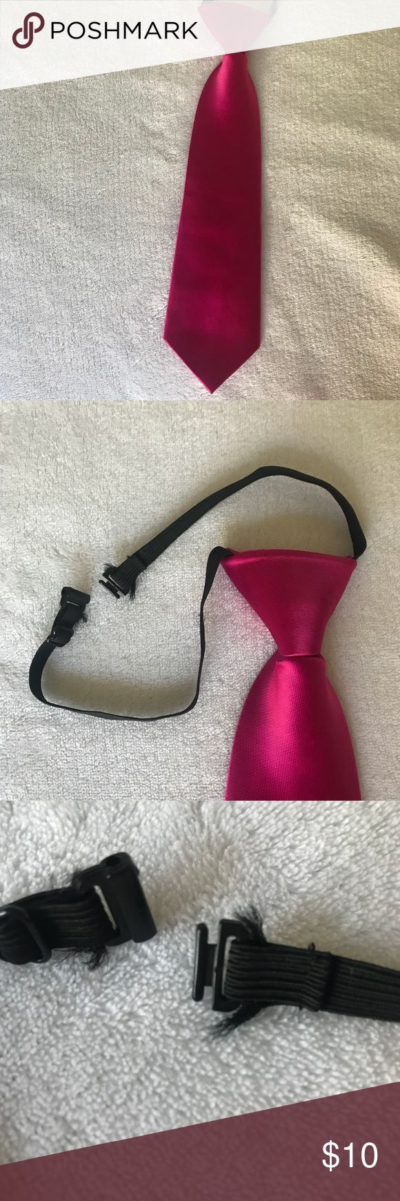 Short Pink clip on tie Short Pink clip on tie; brand: Fouger USA; boys tie Accessories Ties