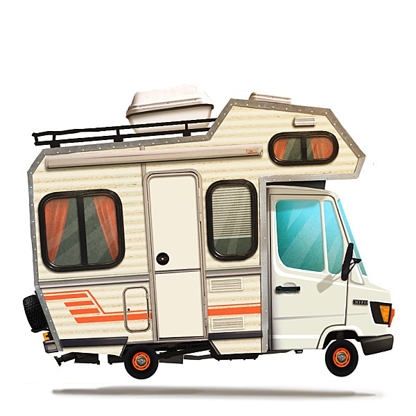 Tractopelle Tractopelle, Campingcars, Camper