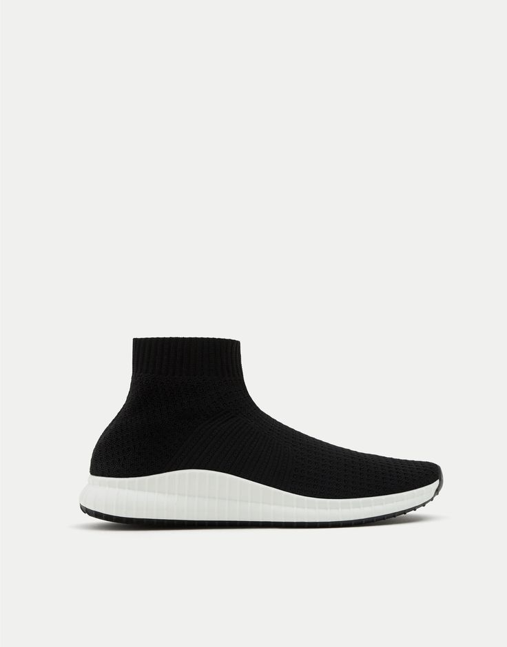 Sock-style high-top sneakers - See all - Shoes - Man - PULL&BEAR United Kingdom