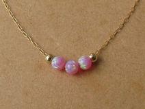 gold halskette,opal halskette,gefullt 14 kette