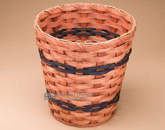 Handmade Amish Waste Basket - Round (EM60)