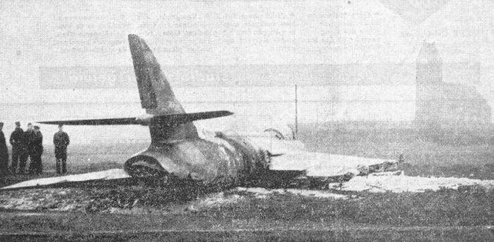 Hunter crash Jelsum '59
