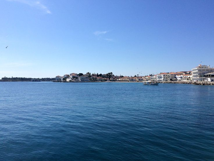Arriving at Spetses island, Greece
