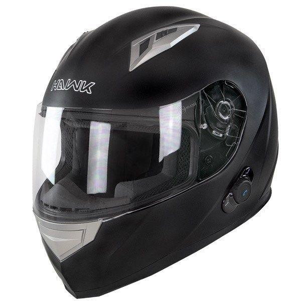 Hawk H500 Matte Black Bluetooth Motorcycle Helmet  #HAWK #Motorcycle