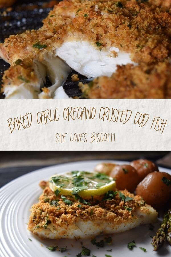 Looking for a healthy & tasty meatless Monday meal? Cue in this Simple Oven Baked Garlic Oregano Crusted Cod Fish -ready in just 30 min & with sides!