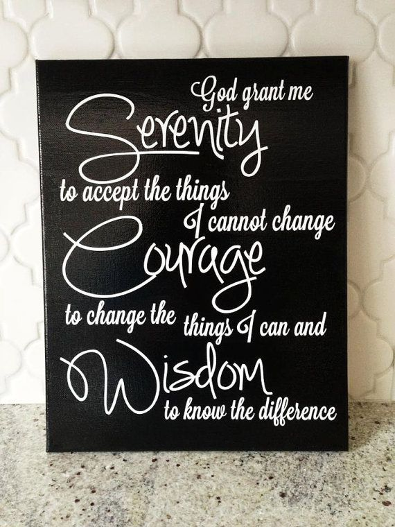 "8x10"" Serenity Prayer Vinyl Canvas Art"