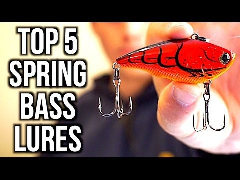TOP 5 SPRING BASS FISHING LURES - Bass Fishing Tips - (More info on: http://1-W-W.COM/fishing/top-5-spring-bass-fishing-lures-bass-fishing-tips/)