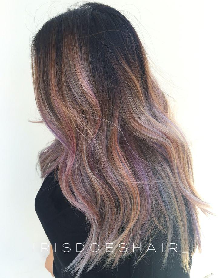 Balayage Pastel rainbow hair