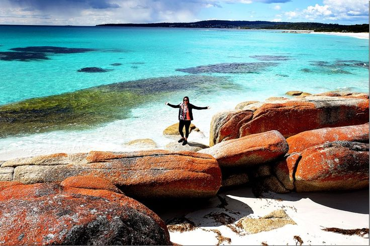 The Stunning Bay of Fires - Hidden Gem of Tasmania #travel #ttot #discovertasmania @Tracy Sparks www.parkmyvan.com.au #ParkMyVan #Australia #Travel #RoadTrip #Backpacking #VanHire #CaravanHire‬‬