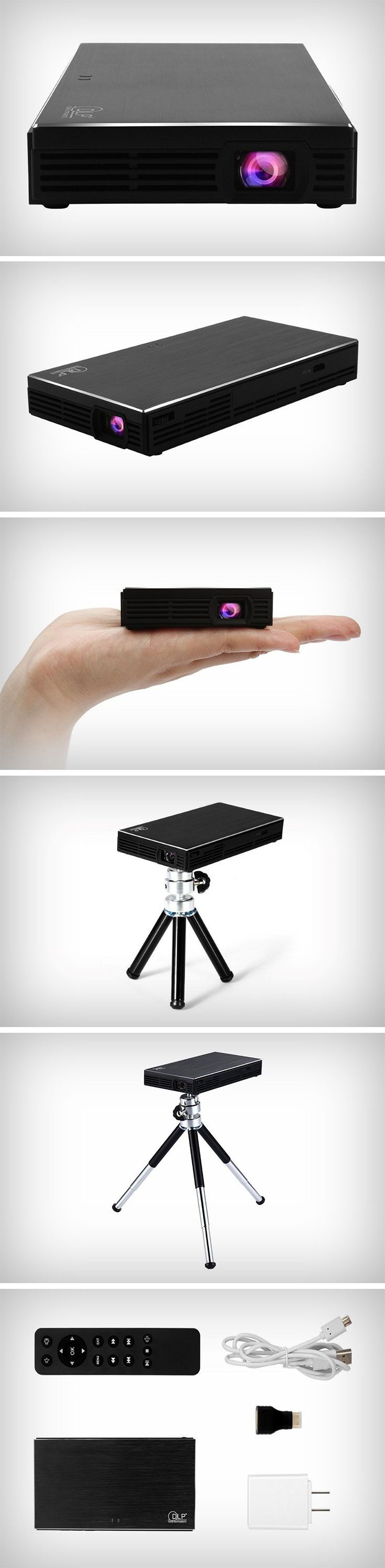 The FastFox DLP projector also fits into your pocket. It projects a screen anywhere from 30 to a 100 inches. This slick little device has the footprint of an external hard disk and can connect to your devices via USB or HDMI (or just plug that Chromecast in). It uses DLP technology to provide an image that's better in quality than an LCD and even heats up less. Weighing just over 200 grams, the FastFox comes with a tripod mount and even a remote control. BUY NOW!
