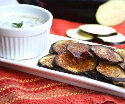 garam masala eggplant chips with cilantro mint raita eggplant chips ...