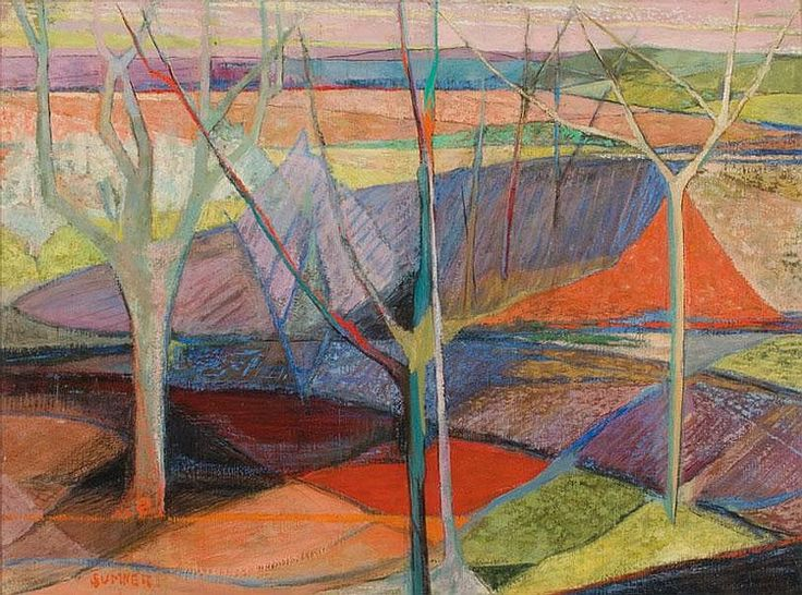Maud Sumner (1902-1985) - A Landscape with Trees