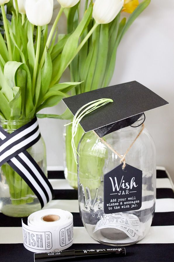 Top 5 Ways To Customize Your Graduation Party Give Guests The Option Share Well Wishes Or Words Of Advice By Collecting Notes In A Mason Jar Just Set