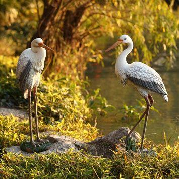 Spaleau™ Egret ornaments (coupon code 3offpin) #gardening #garden #decoration