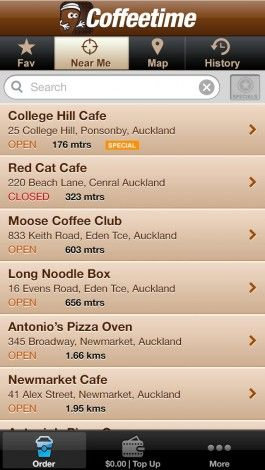 Coffeetime introduces a coffeetime app, which allows you to choose your coffee store in New Zealand  and can order your coffee in advance.