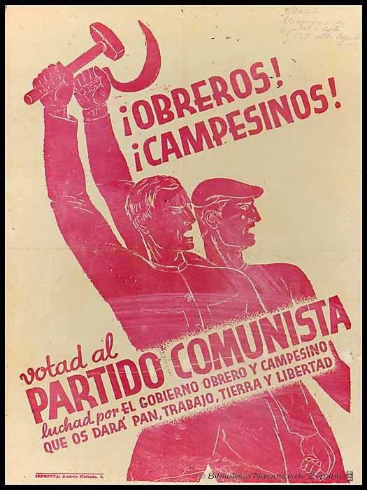 Partido Comunista Español.                                                                                                                                                                                 Más