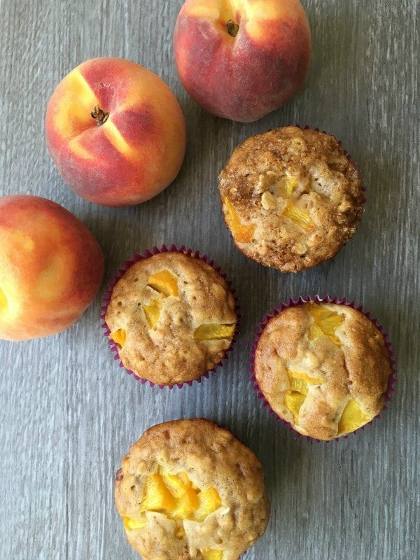 Snack Time Honey and Oat Peach Muffins - A delicious option for the kids lunch…