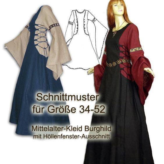 Vestido medieval padrão e-book DIY   – DIY: Kostüme – costume