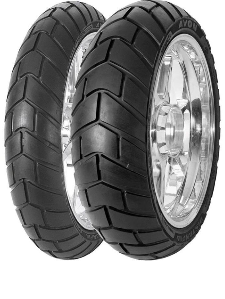 Avon Distanzia dual sports motorcycle tyres. Worth a try ...