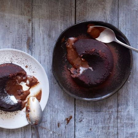 Gordon Ramsay's Chocolate Fondant - it is absolutely delicious. And very easy to make. I followed the extra steps provided on the BBC website (buttering the ramekins twice and chilling the mixture before going into oven) and the results were amazing. Will def make this again.