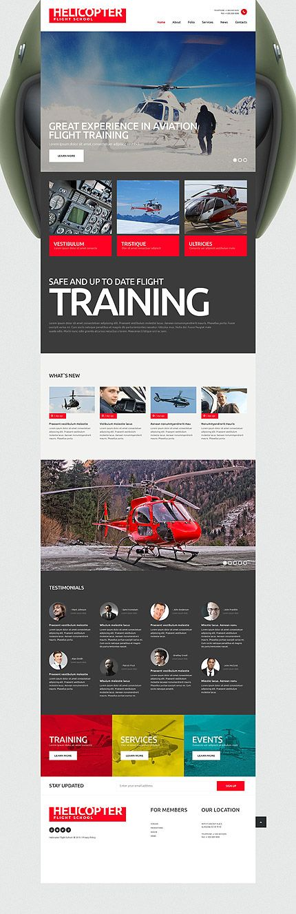 Helicopter Flight School #website #template. #themes #business #responsive