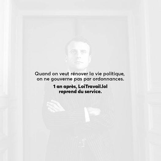 Bonjour,  Vous l'avez peut-être vu ce matin, Le Parisien a dévoilé l'avant projet de loi qui autorise le gouvernement à légiférer par ordonnances sur la Loi Travail n°2. Nous serons à 17h en direct sur Facebook le décrypter et en parler avec vous. https://www.facebook.com/events/1344027655680201  Le contenu va bien au-delà des propositions d'Emmanuel Macron pendant la campagne électorale. Il prévoit purement et simplement de renvoyer au niveau de l'entrepri...