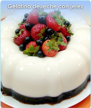 Gelatina de leche con jerez gelatinas pinterest - Gelatina leche condensada ...