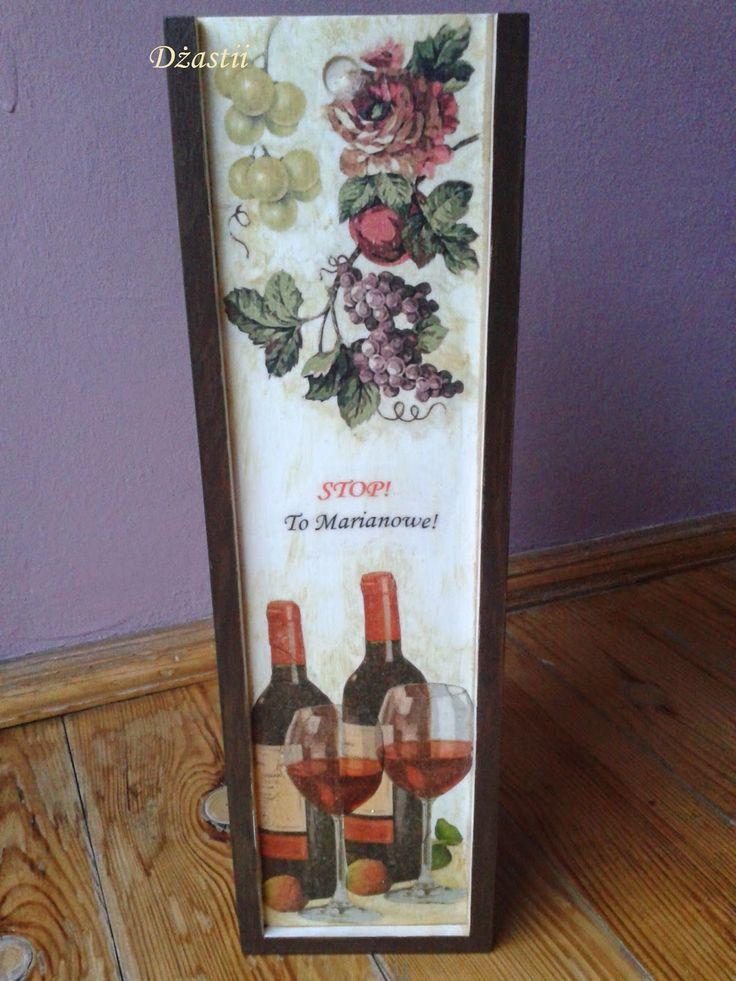 sweetness&brilliance: Skrzynka na wino - urodziny cz. 2/3