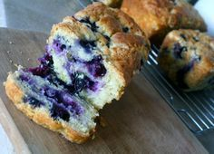Blueberry Cream Cheese Bread.. DO NOT use blueberry pie filling. And split into two loaf pans.