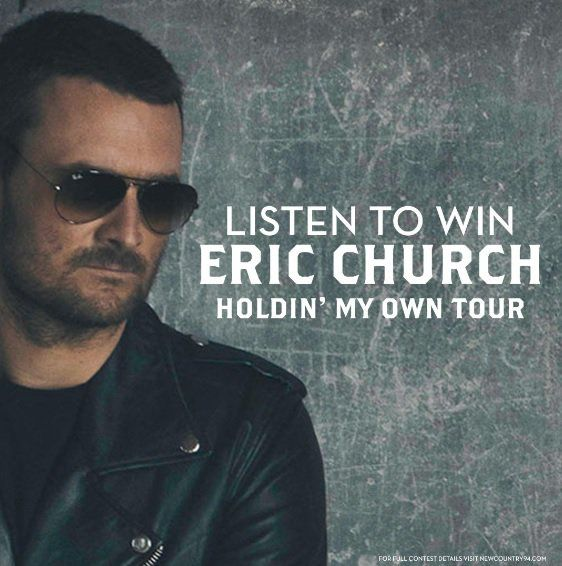 Listen all week for chances to WIN Eric Church tickets, every time you hear an #EricChurch song be caller 25! Good luck! #MorningPickUp