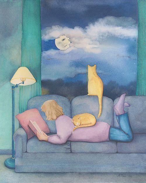 Гостевой пост Маленького Миу для Блоги Мам | Иллюстраторы мира о любви к чтению | Неизвестный автор (Пожалуйста сообщите, если вы знаете, кто автор этой иллюстрации)
