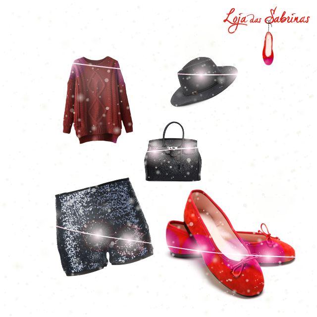 Um look para o dia de Natal com a nossas Sabrinas Morango.  Encontra-as aqui: http://www.lojadassabrinas.com/product/morango