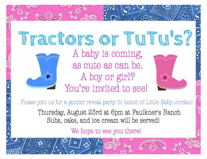 Faulkner's Ranch: Word From the Herd: Gender Reveal Party