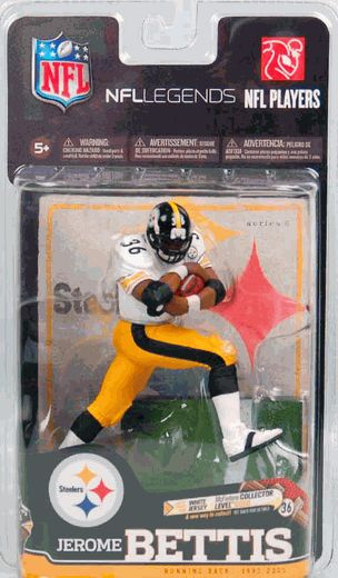Jerome Bettis (Pittsburgh Steelers) NFL Legends Series 6 McFarlane Collector Level Gold CHASE #/500