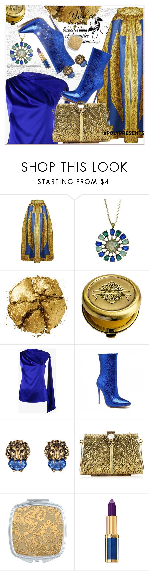 """#PolyPresents: Last-Minute Gifts"" by selmir ❤ liked on Polyvore featuring Pat McGrath, In Fiore, Osman, Gucci, From St Xavier and Balmain"