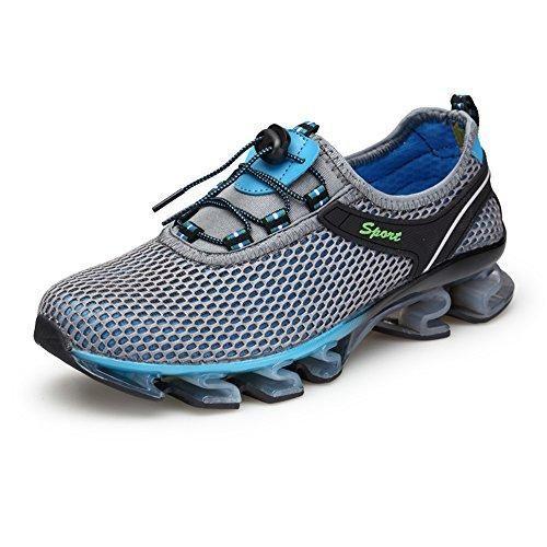 Oferta: 29.99€. Comprar Ofertas de KuBua Zapatillas Hombre Malla Zapatos para Correr Zapatillas de Deporte Casuales Running Padel Marrón Azul Gris 39-46 Gris EU barato. ¡Mira las ofertas!