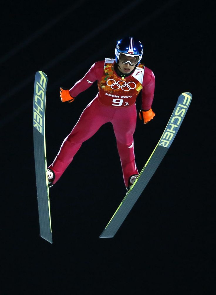 DAY 11:  Maciej Kot of Poland competes during Ski Jumping Men's Team Large Hill http://sports.yahoo.com/olympics