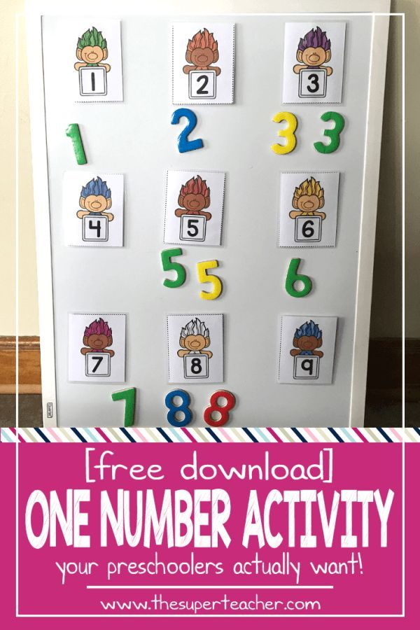 This is a FREE number activity with TROLLS! Perfect for a math center in preschool or kindergarten. This number game is so easy to prep. Click here to download this FREE Trolls Number Activity!